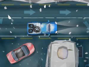 Pickup Parking: Winter Night