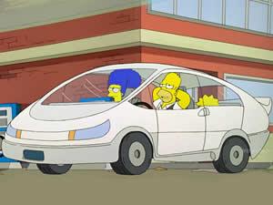 The Simpsons Tesla Car