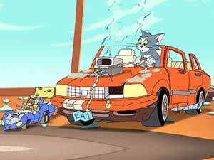 Tom and Jerry Car Puzzle
