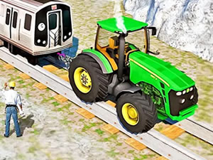 Chained Tractor Towing Train 2018