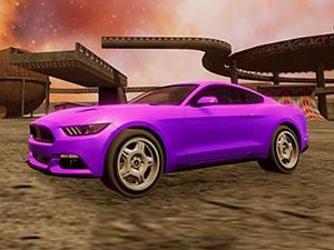 Crazy Car Stunts in Moon Cosmic Arena