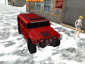 Mountain Jeep Passenger Transport Driver